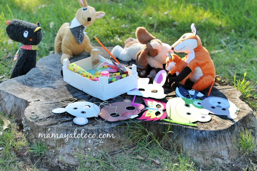 fiesta-cumpleaños-animales-del-bosque-caretas-máscaras-animales-peluches-ikea.jpg
